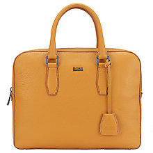Buy BOSS Gardo Slim Work Bag, Yellow Online at johnlewis.com