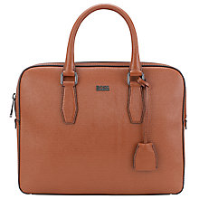 Buy BOSS Sumei Slim Leather Work Bag Online at johnlewis.com