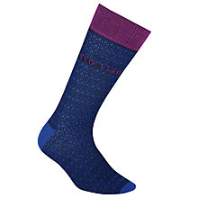 Buy Ted Baker Blooma Pattern Socks, One Size, Blue Online at johnlewis.com
