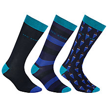 Buy Ted Baker Umbrella Socks, Pack of 3, One Size, Multi Online at johnlewis.com