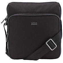 Buy BOSS Nilbio Reportor Bag, Black Online at johnlewis.com