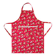 Buy Cath Kidston Bramley Sprig with Lace Trim Apron Online at johnlewis.com