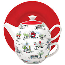 Buy Cath Kidston Tea for One Teapot and Saucer Set Online at johnlewis.com