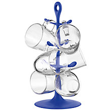Buy Bodum Mug Tree, Set of 6 Glass Mugs Online at johnlewis.com