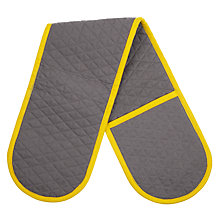Buy House by John Lewis Double Oven Glove, Grey/Yellow Online at johnlewis.com