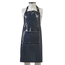 Buy John Lewis PVC Apron, Navy Stripe Online at johnlewis.com