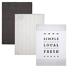 Buy John Lewis Comfort Food Tea Towels, Set of 3 Online at johnlewis.com