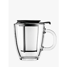 Buy Bodum Yo-Yo Set Mug/Tea Strainer, Black Online at johnlewis.com