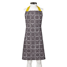 Buy House by John Lewis Apron, Grey/Yellow Online at johnlewis.com
