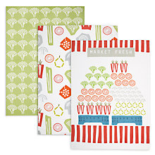 Buy John Lewis Market Fresh Tea Towel, Set of 3 Online at johnlewis.com