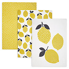 Buy John Lewis Lemon Pie Tea Towel, Set of 3 Online at johnlewis.com