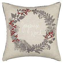 Buy John Lewis 'Joyeux Noel' Cushion Online at johnlewis.com