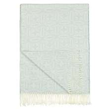 Buy John Lewis Nevis Throw Blanket, Ice Blue Online at johnlewis.com