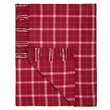 Buy John Lewis Simple Check Throw Blanket, Red Online at johnlewis.com