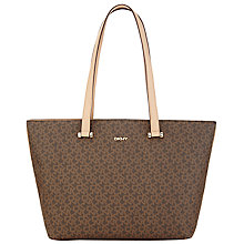 Buy DKNY Heritage Large Logo Print Shopper Bag, Nutmeg Online at johnlewis.com
