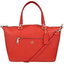 Buy Coach Prarie Leather Satchel Bag, Watermelon Online at johnlewis.com
