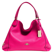 Buy Coach Edie Leather Shoulder Bag, Watermelon Online at johnlewis.com