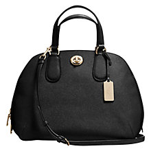 Buy Coach Prince Street Leather Satchel Bag, Black Online at johnlewis.com