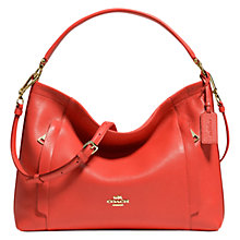 Buy Coach Scout Leather Hobo Bag, Watermelon Online at johnlewis.com