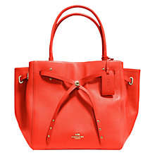 Buy Coach Turnlock Tie Leather Tote Bag Online at johnlewis.com
