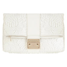 Buy Coast Texture Rosey Clutch Bag, White Online at johnlewis.com