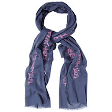 Buy White Stuff Bird Embroidery Scarf, Blue Online at johnlewis.com