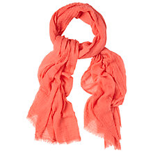 Buy White Stuff Dreaming Away Scarf, Orange Online at johnlewis.com