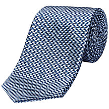 Buy Jaeger Houndstooth Silk Tie, Blue Online at johnlewis.com