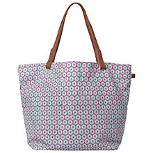 Buy White Stuff Printed Canvas Shopper Bag, Blue Online at johnlewis.com