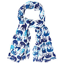 Buy White Stuff Elephants Line Scarf, Multi Blue Online at johnlewis.com