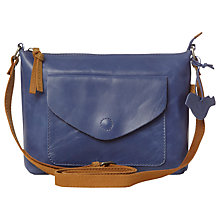 Buy White Stuff Candy Envelope Leather Cross Body Bag, Blue Online at johnlewis.com
