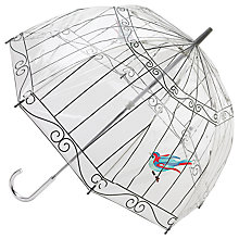 Buy Lulu Guinness Birdcage Umbrella, Clear Online at johnlewis.com