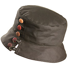 Buy Olney Olivia Waxed Button Rain Hat, Olive Online at johnlewis.com