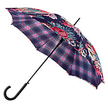 Buy Cath Kidston Bloomsbury Umbrella, Black/Pink Online at johnlewis.com