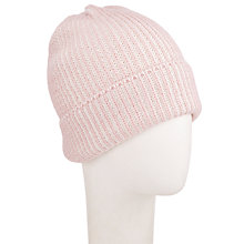 Buy John Lewis Two Tone Beanie, Blush/Cream Online at johnlewis.com