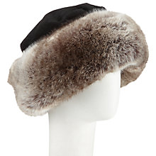 Buy Kamy Faux Fur Trim Cossack Hat, Black Online at johnlewis.com
