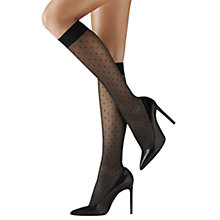 Buy Wolford Daria Knee Highs, Black Online at johnlewis.com