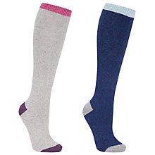 Buy John Lewis Wool Silk Blend Knee High Socks Online at johnlewis.com