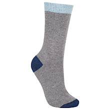 Buy John Lewis Wool and Silk Blend Ankle Socks, Blue Online at johnlewis.com
