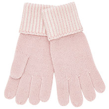 Buy John Lewis Two Tone Gloves, One Size, Blush/Cream Online at johnlewis.com