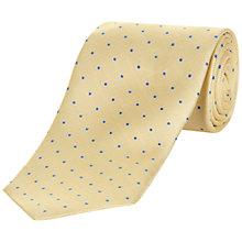 Buy Jaeger Textural Spot Tie, Gold Online at johnlewis.com