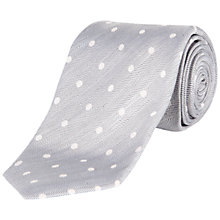 Buy Jaeger Herringbone Spot Linen Silk Tie Online at johnlewis.com
