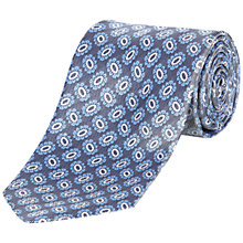 Buy Jaeger Oval Flower Silk Tie, Grey Online at johnlewis.com