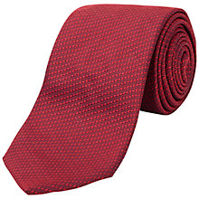 Buy Jaeger Textured Plain Silk Tie Online at johnlewis.com