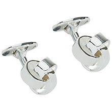 Buy Jaeger Knot Cufflinks, Silver Online at johnlewis.com