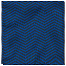 Buy Jaeger Zig Zag Silk Pocket Square Online at johnlewis.com