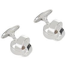 Buy Jaeger Knot Silver Plated Cufflinks, Silver Online at johnlewis.com