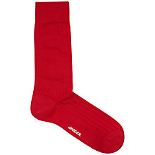 Buy Jaeger Formal Plain Rib Socks, One Size Online at johnlewis.com