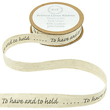 Buy John Lewis Bridal Ribbon, 5m, Natural Online at johnlewis.com