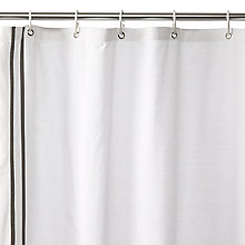 Buy John Lewis Hotel Grey Stripe Shower Curtain Online at johnlewis.com